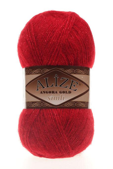 ALİZE - ALİZE ANGORA GOLD SİMLİ 106 Kırmızı