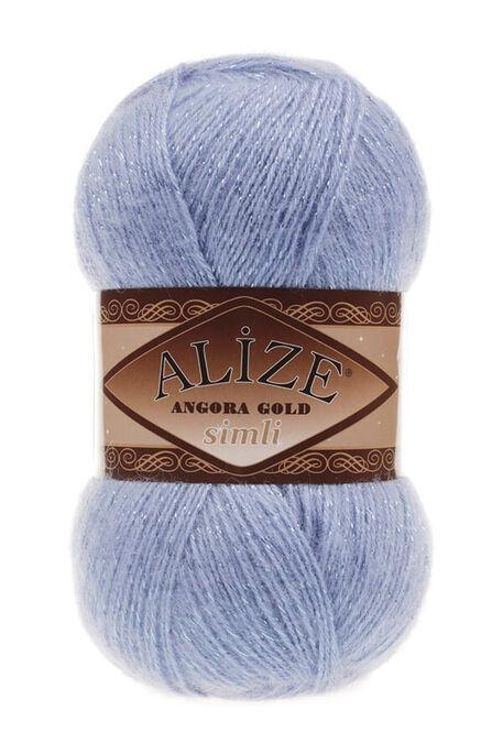 ALİZE - ALİZE ANGORA GOLD SİMLİ 40 Mavi