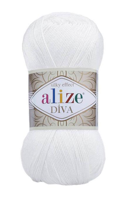 ALİZE - ALİZE DİVA 55 Beyaz