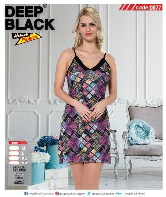 DEEP BLACK - DEEP BLACK 0077 İP ASKILI TUNİC