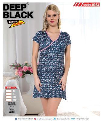 DEEP BLACK - DEEP BLACK 0083 KISA KOLLU TUNİC