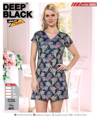 DEEP BLACK - DEEP BLACK 0088 KISA KOLLU TUNİC