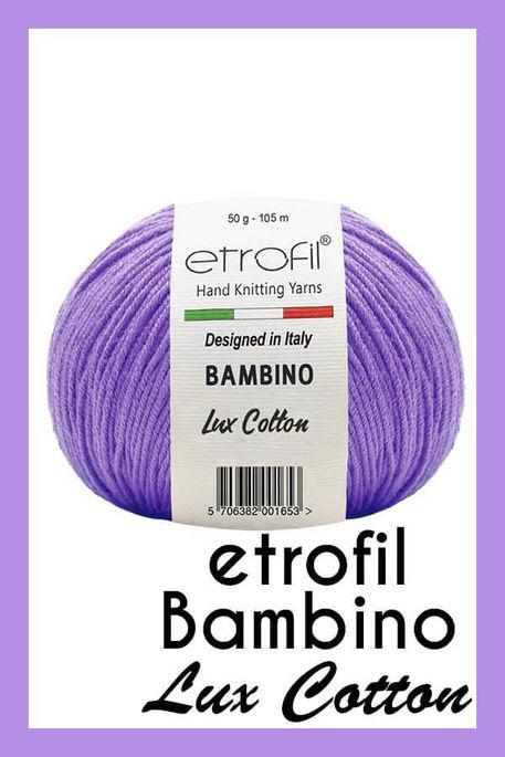 ETROFİL - ETROFİL BAMBİNO LUX COTTON 70612 Mor