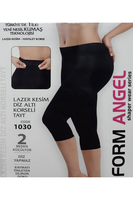 FORM ANGEL - FORM ANGEL 1030 DİZ ALTI KORSELİ TAYT LAZER KESİM