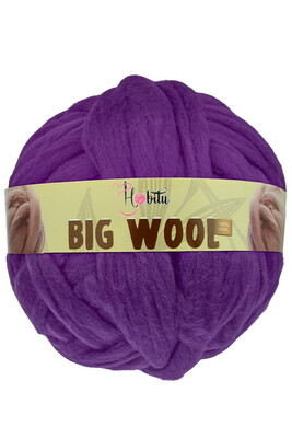 HOBİTU YARNS - HOBİTU BIG WOOL 1000 GR 05 Mor