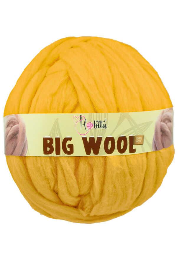 HOBİTU BIG WOOL 1000 GR 08 Koyu Sarı
