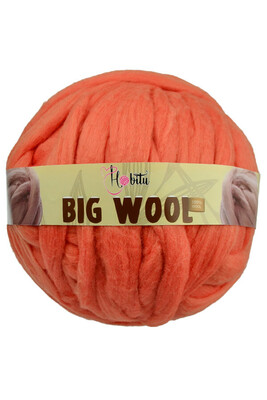 HOBİTU YARNS - HOBİTU BIG WOOL 1000 GR 11 Mercan