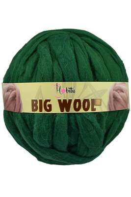 HOBİTU YARNS - HOBİTU BIG WOOL 1000 GR 12 Zümrüt