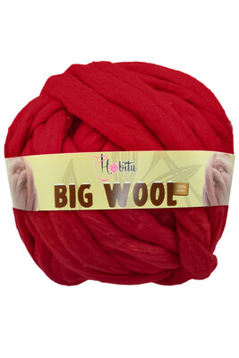 HOBİTU YARNS - HOBİTU BIG WOOL 1000 GR 13 Şarabi