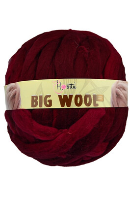 HOBİTU YARNS - HOBİTU BIG WOOL 1000 GR 15 Açık Bordo