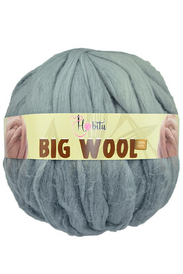 HOBİTU YARNS - HOBİTU BIG WOOL 1000 GR 18 Gri