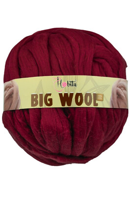 HOBİTU YARNS - HOBİTU BIG WOOL 1000 GR 20 Bordo
