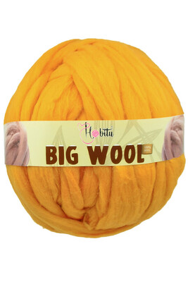 HOBİTU YARNS - HOBİTU BIG WOOL 1000 GR 23 Hardal