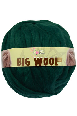 HOBİTU YARNS - HOBİTU BIG WOOL 1000 GR 24 Ördekbaşı Yeşil