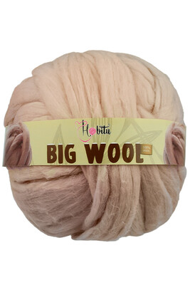 HOBİTU YARNS - HOBİTU BIG WOOL 1000 GR 25 Ten