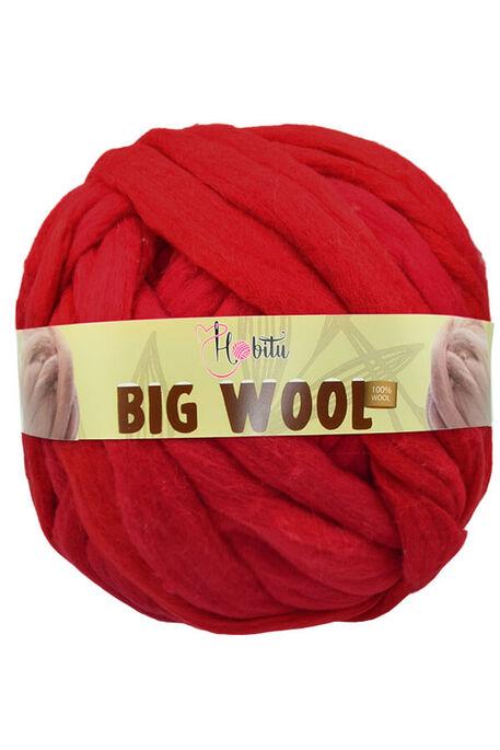 HOBİTU YARNS - HOBİTU BIG WOOL 1000 GR 27 Kırmızı