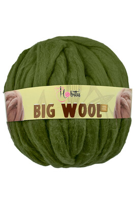 HOBİTU YARNS - HOBİTU BIG WOOL 1000 GR 31 Haki