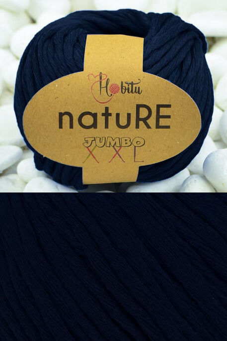 HOBİTU YARNS - HOBİTU NATURE JUMBO XXL COTTON 184 Lacivert