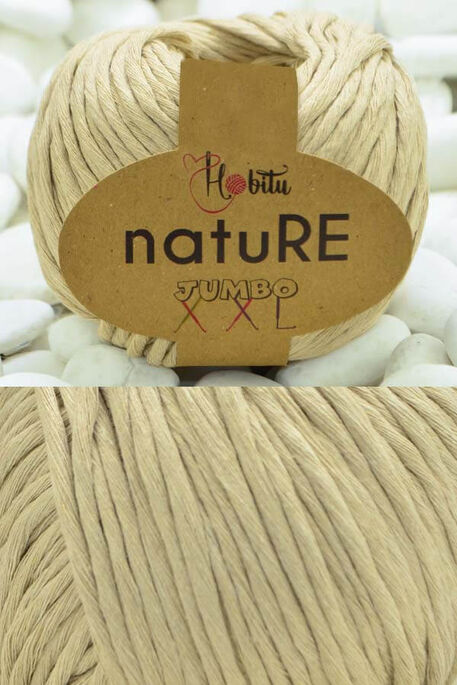 HOBİTU YARNS - HOBİTU NATURE JUMBO XXL COTTON 153 Bej