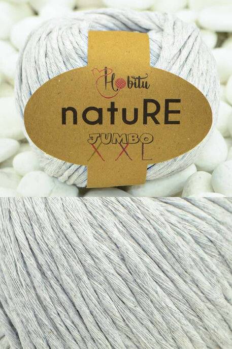 HOBİTU YARNS - HOBİTU NATURE JUMBO XXL COTTON 156 Gri