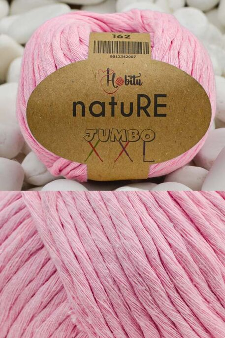 HOBİTU YARNS - HOBİTU NATURE JUMBO XXL COTTON 162 Pembe