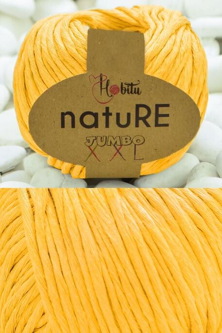 HOBİTU YARNS - HOBİTU NATURE JUMBO XXL COTTON 164 Sarı
