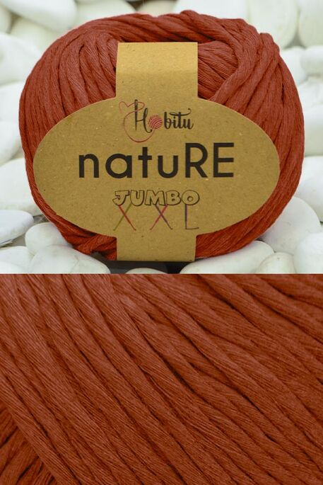 HOBİTU YARNS - HOBİTU NATURE JUMBO XXL COTTON 185 Taba