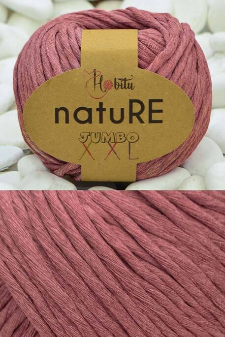HOBİTU YARNS - HOBİTU NATURE JUMBO XXL COTTON 192 Gül Kurusu