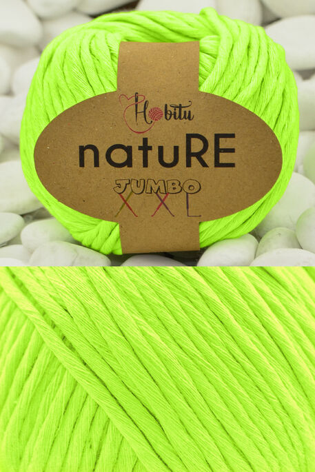 HOBİTU YARNS - HOBİTU NATURE JUMBO XXL COTTON 201 Neon Sarı