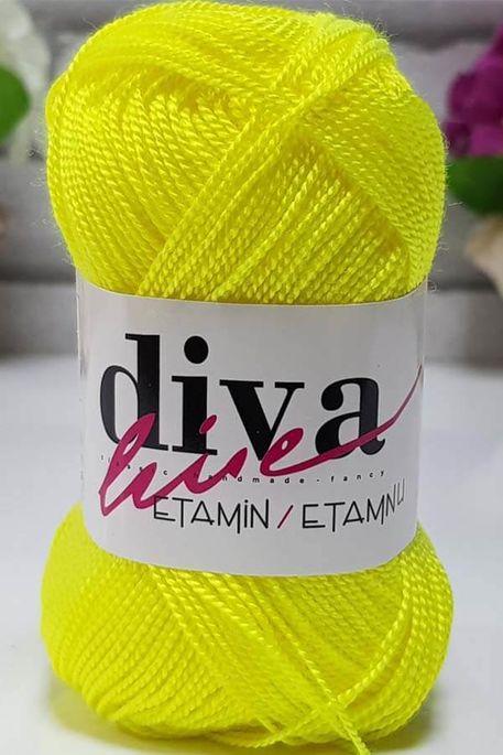 DİVA - ETAMİN İŞ ORLONU 53 Neon Sarı