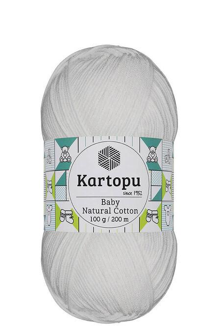 KARTOPU - KARTOPU BABY NATURAL COTTON K010 Beyaz