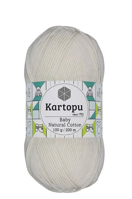 KARTOPU - KARTOPU BABY NATURAL COTTON K11 Ekru