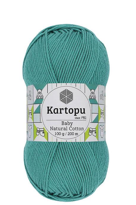 KARTOPU - KARTOPU BABY NATURAL COTTON K418 Koyu Mint