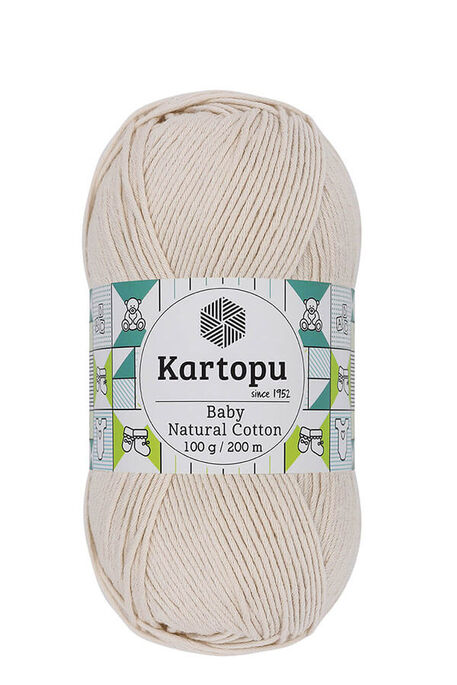 KARTOPU - KARTOPU BABY NATURAL COTTON K793 Bal Köpüğü
