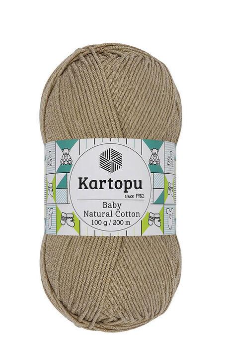 KARTOPU - KARTOPU BABY NATURAL COTTON K837 Sütlü Kahve