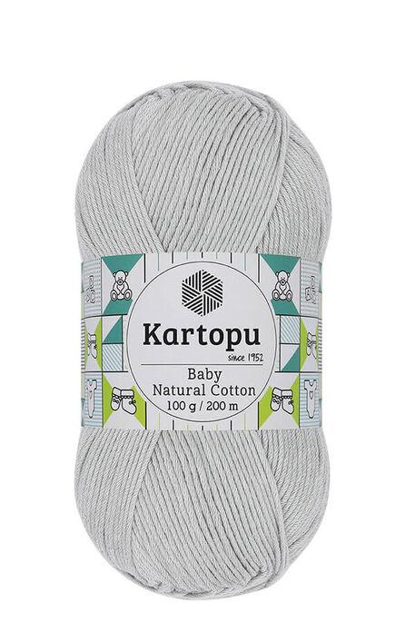 KARTOPU - KARTOPU BABY NATURAL COTTON K920 Gümüş Gri