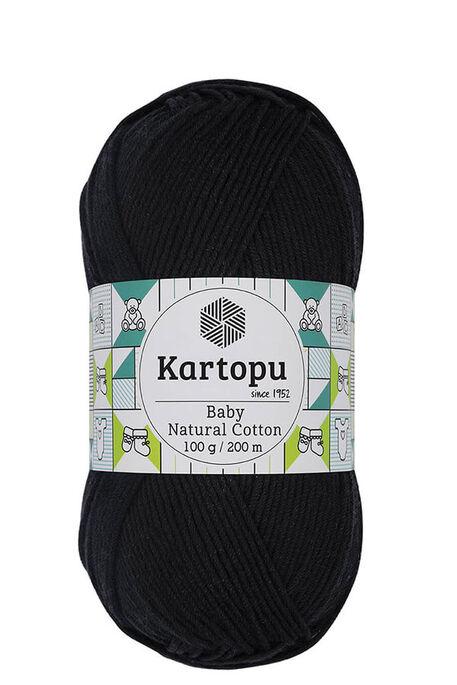 KARTOPU - KARTOPU BABY NATURAL COTTON K940 Siyah
