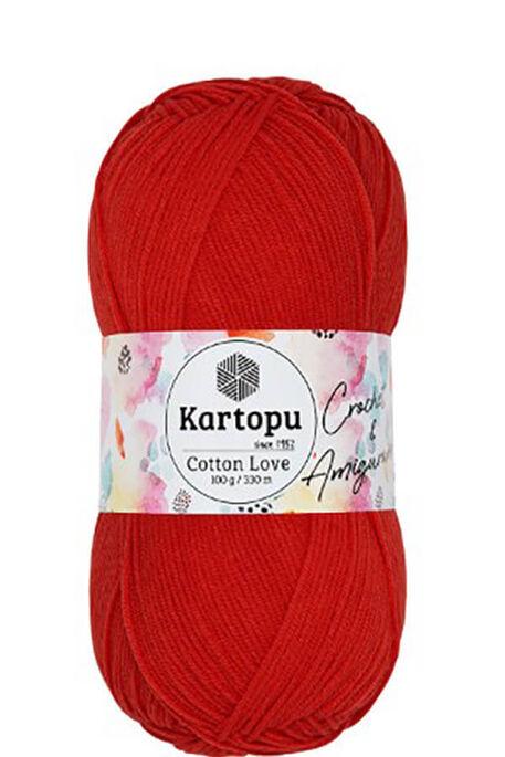 KARTOPU - KARTOPU COTTON LOVE K1170 Kırmızı