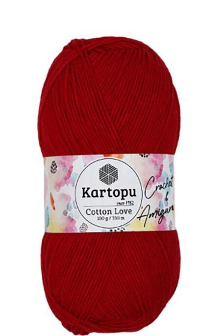 KARTOPU - KARTOPU COTTON LOVE K143 Kırmızı