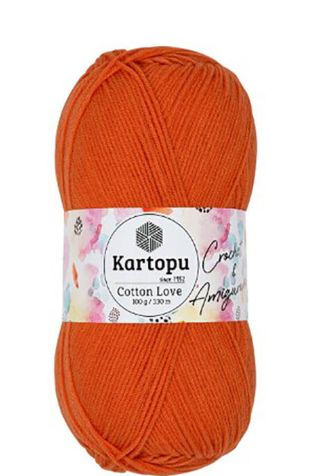 KARTOPU - KARTOPU COTTON LOVE K201 Turuncu
