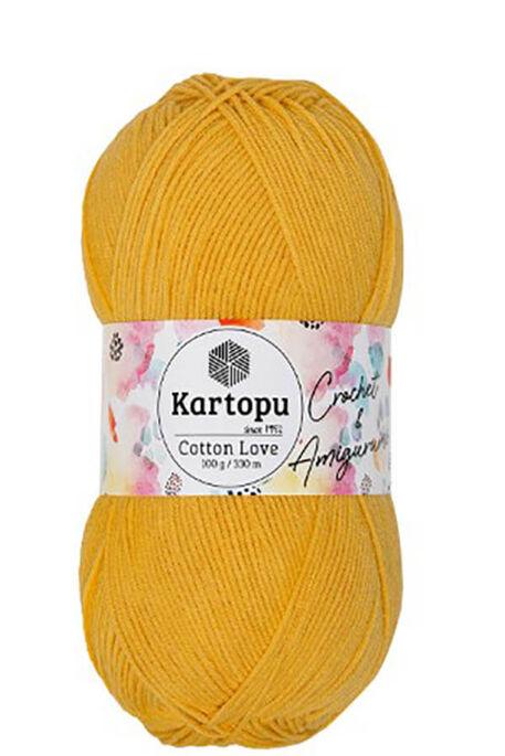 KARTOPU - KARTOPU COTTON LOVE K317 Açık Hardal
