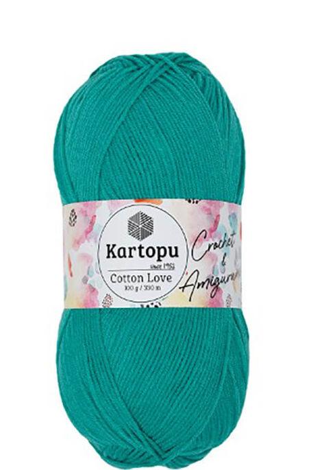 KARTOPU - KARTOPU COTTON LOVE K418 Koyu Mint