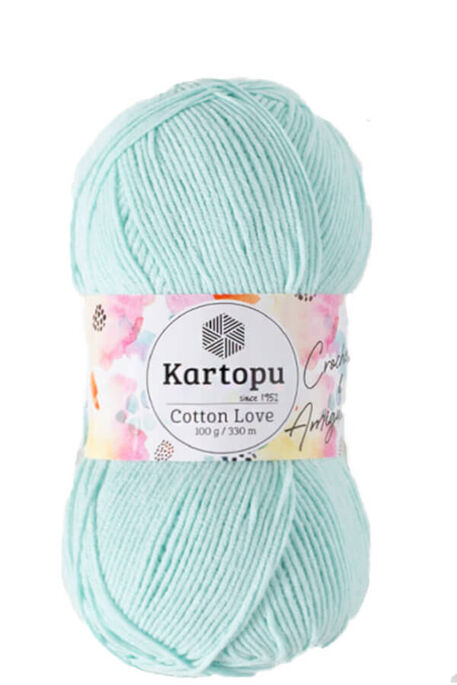 KARTOPU - KARTOPU COTTON LOVE K547 Açık Mint