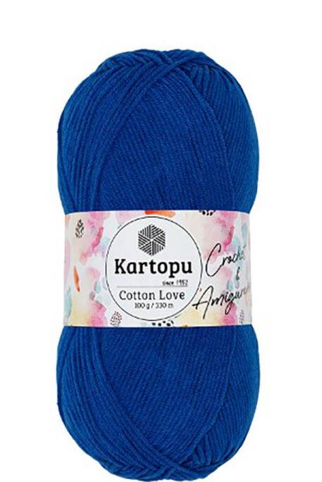 KARTOPU - KARTOPU COTTON LOVE K621 Saks Mavi