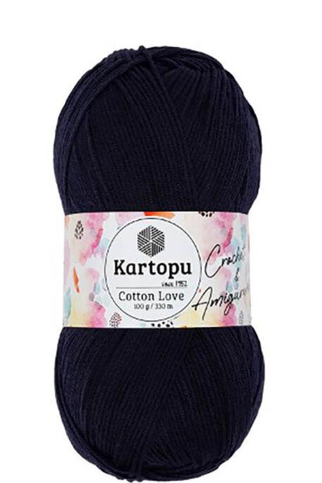 KARTOPU - KARTOPU COTTON LOVE K630 Lacivert