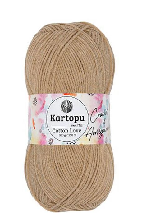 KARTOPU - KARTOPU COTTON LOVE K837 Sütlü Kahve