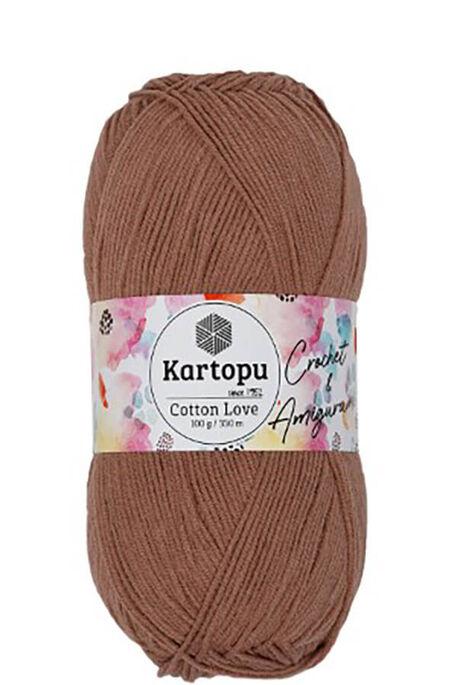 KARTOPU - KARTOPU COTTON LOVE K842 Kızıl Kahve