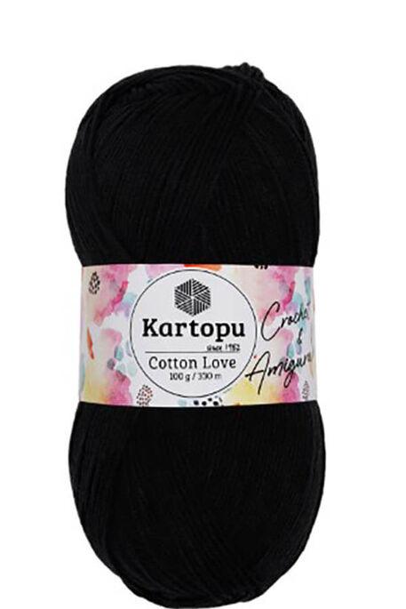 KARTOPU - KARTOPU COTTON LOVE K940 Siyah