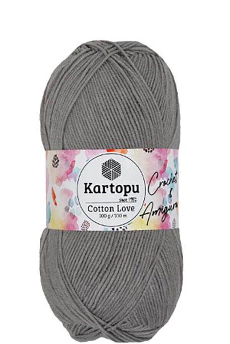 KARTOPU - KARTOPU COTTON LOVE K990 Gri