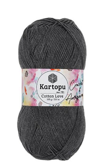 KARTOPU - KARTOPU COTTON LOVE K995 Koyu Gri